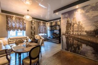 светлая стильная 2-комнатная квартира в аренду в центре С-Петербург